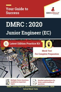 EduGorilla DMRC Junior Engineer (JE) Electronics & Communication 2020 - 10 Mock Test - Latest Edition Practice Kit