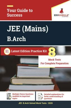EduGorilla Joint Entrance Examination (JEE) Mains B.Arch 2020 - Paper 2 - 8 Full Length Mock Test - Latest Edition Practice Kit
