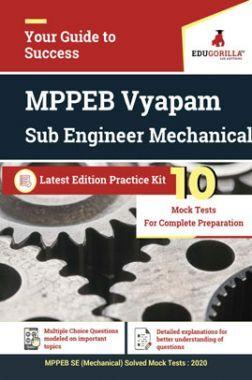 EduGorilla MPPEB Vyapam Sub Engineer (SE) Mechanical 2020 - 10 Mock Test - Latest Edition Practice Kit