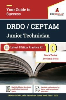 EduGorilla DRDO CEPTAM Junior Technician - 2020 - 10 Mock Test + 24  Sectional Test