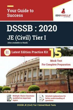 EduGorilla DSSSB JE (Civil) Tier I - 2020 - 15 Mock Test