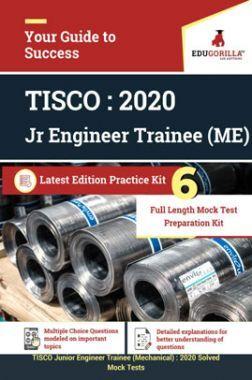 EduGorilla TISCO Junior Engineer Trainee (Mechanical) - 2020 - 6 Full Length Mock Test - Latest Edition Practice Kit