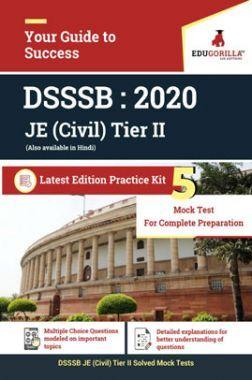 EduGorilla DSSSB JE (Civil) Tier II - 2020 - 5 Mock Test