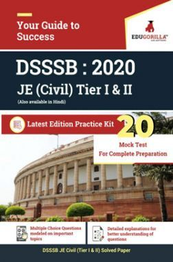 EduGorilla DSSSB JE (Civil) Tier I & II - 2020 - 20 Mock Test