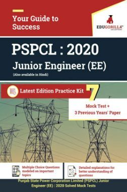 EduGorilla PSPCL Junior Engineer - 2020 - 7 Full Length Mock Test + 3 Previous Years Paper - Latest Edition Practice Kit
