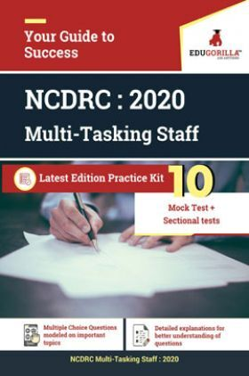 EduGorilla NCDRC - MTS - 2020 - 10 Mock Test + Sectional Test