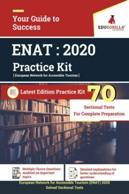 EduGorilla European Network For Accessible Tourism (ENAT) 2020 - 70 Sectional Tests - Latest Edition Practice Kit