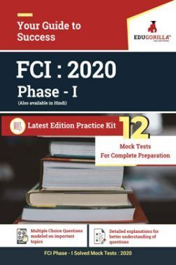 EduGorilla FCI Phase - I - 2020 - 12 Mock Tests