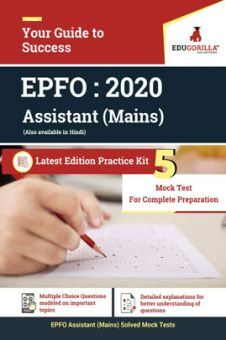 EduGorilla EPFO Assistant (Mains) - 2020 - 5 Mock Test - Latest Edition Practice Kit