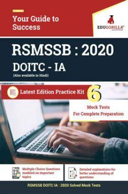 EduGorilla RSMSSB DOITC IA 2020 - 6 Mock Test With Complete Solution