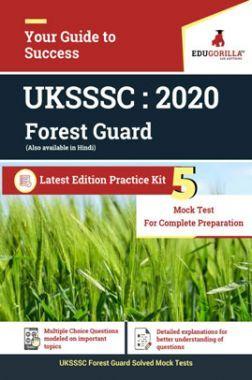 EduGorilla UKSSSC Forest Guard - 2020 - 5 Mock Test - Latest Edition Practice Kit