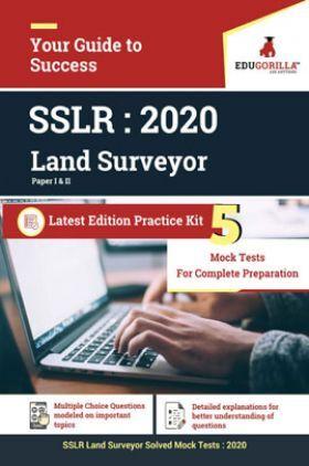 EduGorilla SSLR - Land Surveyor 2020 - 5 Mock Test With Complete Solution