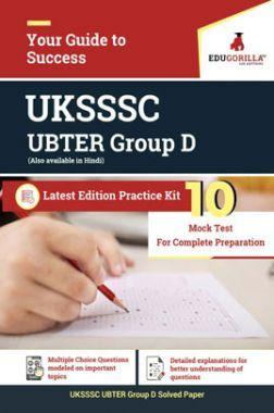 EduGorilla UBTER Group D - 2020 -10 Mock Test - Latest Edition Practice Kit