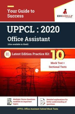 EduGorilla UPPCL Office Assistant- 2020 - 10 Mock Test+Sectional tests - Latest Edition Practice Kit