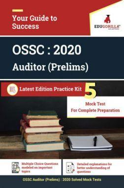 EduGorilla OSSC Auditor (Prelims) - 2020 - 5 Mock Tests