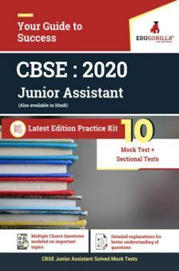 EduGorilla CBSE Junior Assistant 2020 - 10 Mock + Sectional Tests For Complete preparation