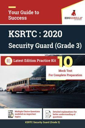 EduGorilla KSRTC Security Guard (Grade-3) 2020 - 10 Mock  For Complete preparation