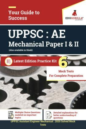 EduGorilla UPPSC Assistant Engineer (Mechanical) 2020 - 6 Full Length Mock Test -  paper I & II - 4 Previous Year Papers Latest Edition Practice Kit