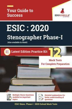 EduGorilla ESIC Steno Phase - I 2020 -  12 Full Length Mock Test  - Latest Edition Practice Kit