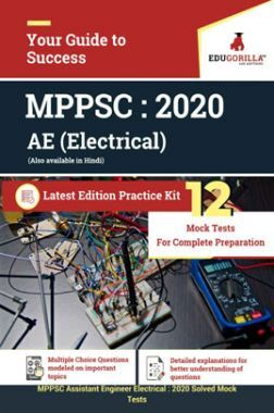 EduGorilla MPPSC Assisatnt Engineer (Electrical) 2020 - 12 Mock Test - Latest Edition Practice Kit