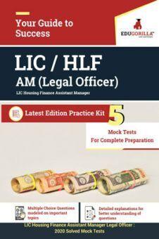 EduGorilla LIC Housing Finance Assistant Manager (Legal Officer) 2020  - 5 Mock Tests For Complete Preparation
