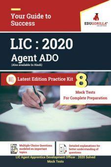 EduGorilla LIC Agent ADO 2020 - 8 Mock Tests -  Latest Edition Practice Kit