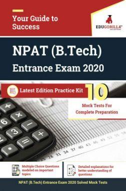 Edugorilla NPAT (B.Tech) Entrance Exam 2020 | 10 Mock Test