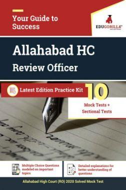 Edugorilla Allahabad High Court Review Officer (RO) Exam 2020 | 10 Full-length Mock Test + Sectional Test