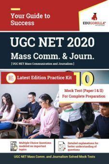 Edugorilla UGC NET Mass Communication and Journalism 2020 | 10 Full-length Mock Test For (Paper l & Paper ll)