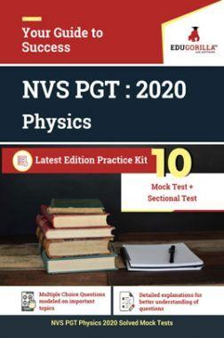 Edugorilla NVS PGT Physics 2020 | 10 Mock Test + Sectional Test
