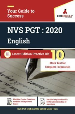 Edugorilla NVS PGT English 2020   10 Mock Test + Sectional Test