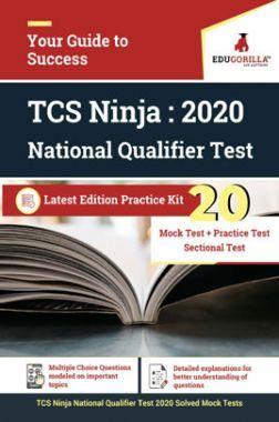 Edugorilla TCS ninja National Qualifier Test (NQT) 2020   10 Mock Test 10 Practice Test + Sectional Test