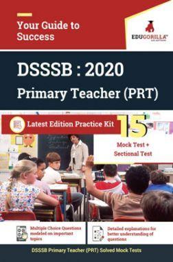Edugorilla DSSSB PRT 2020 | 15 Mock Test + Sectional Test + 1 Previous Year Paper (2018)