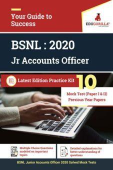 Edugorilla BSNL Junior Accounts Officer (JAO) 2020   10 Mock Test (Paper I & II) For Complete Preparation