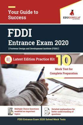 Edugorilla FDDI Entrance Exam 2020 | 10 Full Length Mock Test