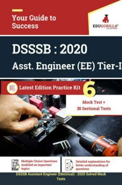 Edugorilla DSSSB Assistant Engineer (AE) Electrical  2020   Tier- I   6 Full Length Mock Test + Sectional Tests   Latest Edition Practice Kit