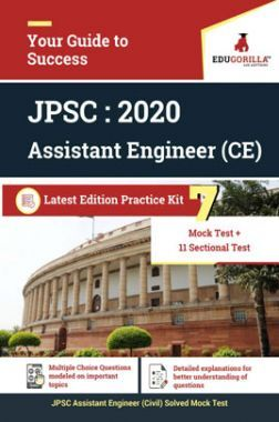 Edugorilla Jharkhand PSC - AE Civil (Assistant Engineer Civil) 2020 | 7 Full Length Mock Test + Sectional Test | With Complete Solution