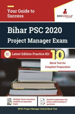 Edugorilla Bihar PSC (BPSC) - Project Manager 2020   10 Mock Test   With Complete Solution