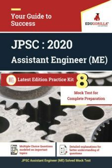 Edugorilla Jharkhand PSC - JPSC AE ME (Assistant Engineer Mechanical) 2020   8 Full Length Mock Test   With Complete Solution