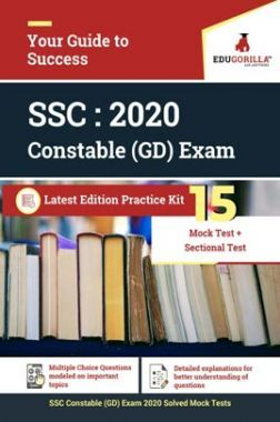 EduGorilla SSC Constable GD Exam 2020 | 15 Mock Test + Sectional Test + Previous Year Paper
