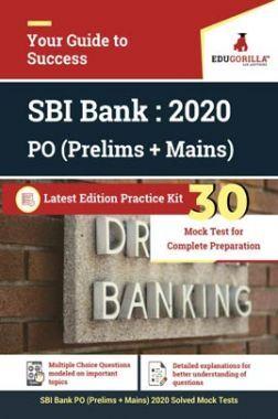 EduGorilla SBI Bank PO (Prelims + Mains) 2020 | 30 Mock Test
