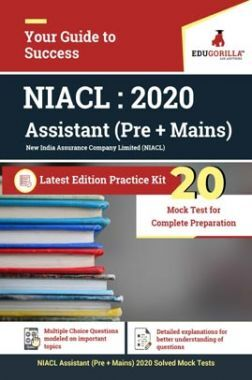 EduGorilla NIACL Assistant Exam 2020 (Pre + Mains)   20 Mock Test