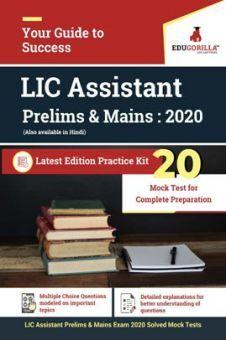 EduGorilla LIC Assistant Prelims & Mains Exam 2020 | 20 Mock Test