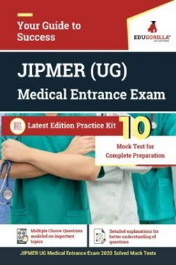 EduGorilla JIPMER UG Medical Entrance Exam 2020 | 10 Mock Test + Previous Year Paper