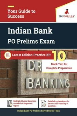EduGorilla Indian Bank PO Pre Recruitment Exam | 10 Mock Test
