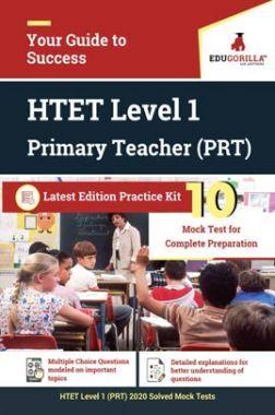 EduGorilla HTET Level 1 (PRT) Primary Teacher Recruitment Exam 2020   10 Mock Test