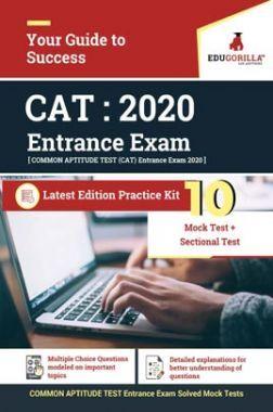 EduGorilla Common Aptitue Test (CAT) Entrance Exam 2020   10 Mock Test + Sectional Test