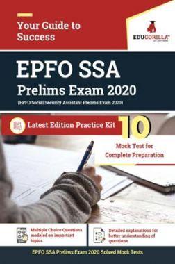 EduGorilla EPFO Social Security Assistant Prelims Exam 2020 | 10 Mock Test
