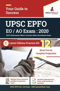 EduGorilla UPSC EPFO (Enforcement Officer/Accounts Officers) Exam   12 Mock Test + Previous Year Paper