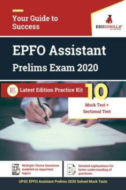 EduGorilla UPSC EPFO Assistant Prelim Exam 2020 | 10 Mock Test + Sectional Test
